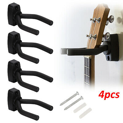 UK 4x Guitar Hanger Adjustable Wall Mount Display Bracket Hook Holder Bass Stand
