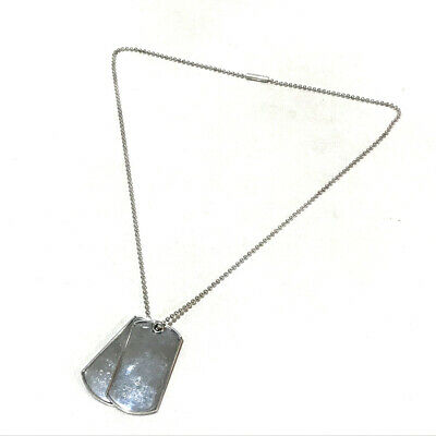 6d8fe3c93 AUTHENTIC GUCCI Dog Tag Plate Accessories Ball Chain Necklace Silver  Silver925