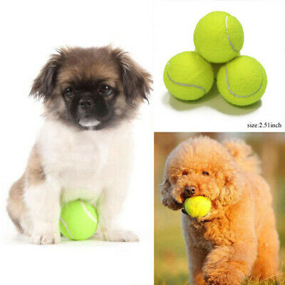 Tennis Ball Chew Toy Pet Dog Puppy Thrower Chucker Launcher 64mm Green
