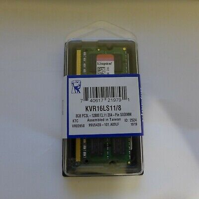 Kingston ValueRAM KVR16LS11/8 DDR3L-1600 SODIMM 8GB/1Gx64 CL11 Notebook Memory