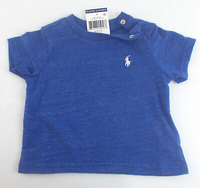 New! POLO Ralph Lauren BABY Boy INFANT T-Shirts Embroidered PONY Blue 9M 12M 24M