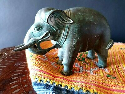 Old India Bronze / Brass Elephant Figure  …beautiful accent & collection piece