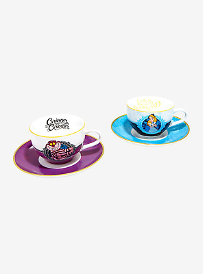 Disney Alice In Wonderland Bone China Tea Cup And Saucer Set Chesire Cat Nib