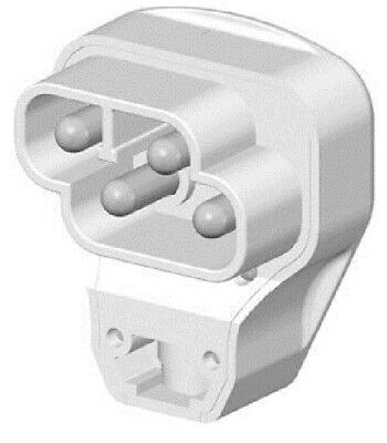 PDL RANGE PLUG PDL976 4-Pin With 1.5m Cord, White