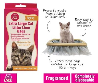 30 x Cat Kitty Litter Liners Bags Liner White Extra Large Brand New Bulk
