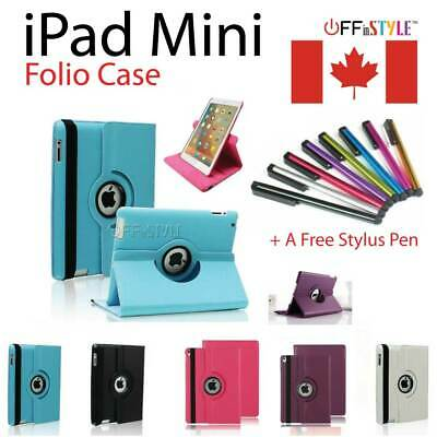 iPad Case Cover Leather Shockproof 360 Rotating Stand iPad Mini Models 1 2 3 4
