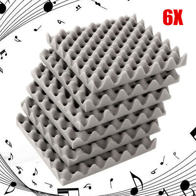 6Pcs 30x30x4cm Acoustic Soundproofing Foam Tiles Convoluted Egg Profile  new CA