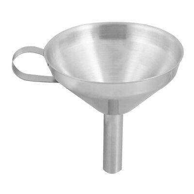 """4.1"""" Mouth Diameter Silver Tone Stainless Steel Laboratory Kitchen Measure P9M5"""