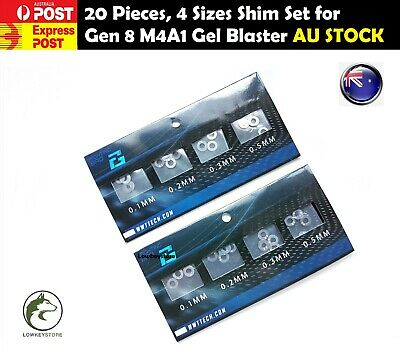 Upgrade Shim Set Gearbox Gel Blaster Metal Gears Jinming Gen8 M4A1 Accessories