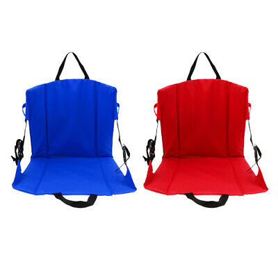 2XFolding Portable Padded Moisture-proof Chair Seat Cushion Back Support Pad