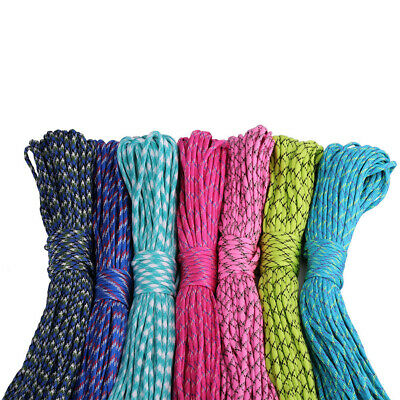 31M 7 Strand 4mm Paracord Rope Parachute Cord For Climbing Camping Hiking Sight