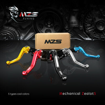 MZS Short Brake Clutch Levers for Yamaha YZF R1 2004-2008,YZF R6 2005-2016-Gold