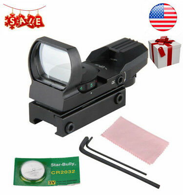 Red Green Illuminated Dot Laser Sight Scope Air Rifle Hunting for 20mm Rail New