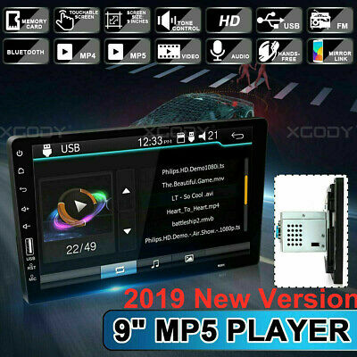 "Single 1 Din 9"" Car FM/USB/AUX MP5 Player Touch Screen Stereo Radio Bluetooth US"