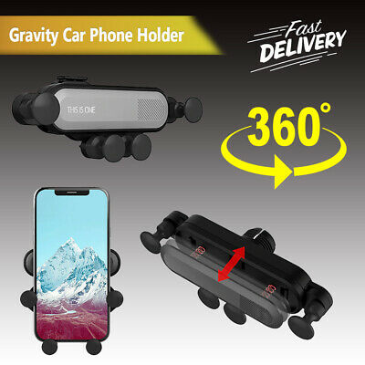 Auto-clamping Car Gravity Phone Holder Air Vent Mount Stand for iPhone X Samsung