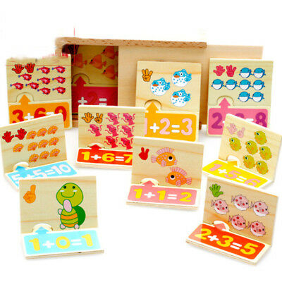 20pcs/Set Wooden Puzzle Jigsaw Toy Baby Animals Number Math Edcuational Toys New