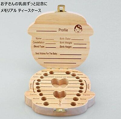 Baby teeth case English notation Souvenir for girl From  Japan