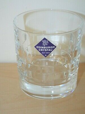 Edinburgh Crystal Glass SKIBO Old Fashioned Pairs, 2 Lovely Whisky Tumblers