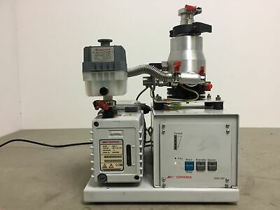 EDWARDS EXC120 -Turbomolecular Pump EXT70 With E2M 1,5 Vacuum Pump System Lab