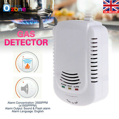Gas Leak Detector Propane Butane Methane Natural Gas Safe Alarm Sensor Monitor