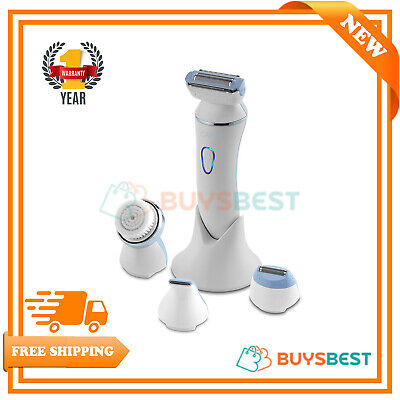 Carmen 4-in-1 Rechargeable Waterproof Design Lady Shaver, 4.5V - Blue & White