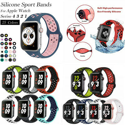 Band For Apple Watch Strap 38MM 40MM 42MM 44MM, Soft Mesh Silicone Sport iwatch