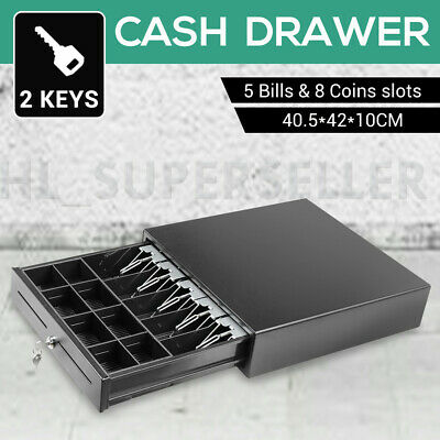 Standard Heavy Duty Electronic Cash Drawer Register POS 5 Bills 8 Coins Tray