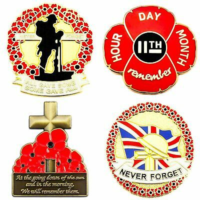 New Red Poppy Badges And Pins 2019 Collection Lapel Brooch British Army Military