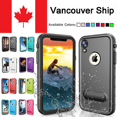 For Apple iphone XR waterproof Case Shockproof With Screen Protector Kickstand