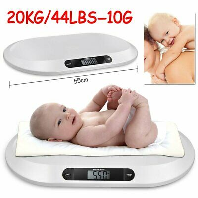 Digital Baby Scales Infant Pet Dog Weight Measure LCD 20KG Kitten Puppie Rabbit