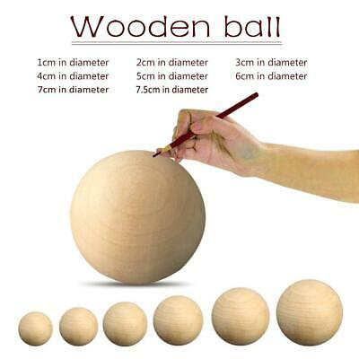 Solid Wooden Round Ball Manual DIY Accessories Wood Color Big Painted Ball Lot