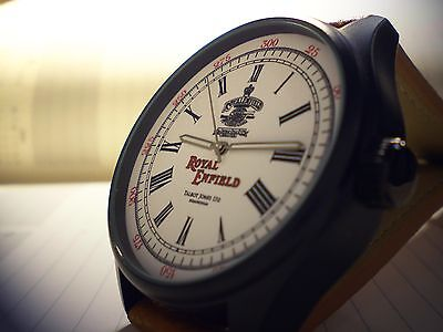 Royal Enfield Motorcycles Wrist Watch Vintage Round Dial 1901 -1967 Retro Style.