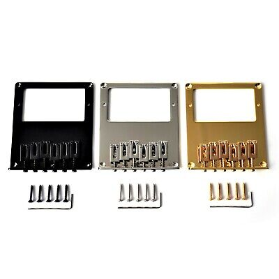 Tele Telecaster Humbucker Electric Guitar Bridge, 6 Saddles Chrome Black Gold