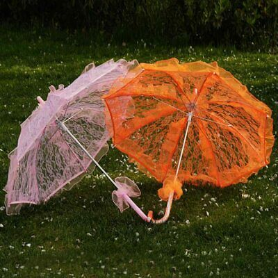 Women Vintage Handmade Parasol Lace Umbrella Party Wedding Bridal Shelter Decor