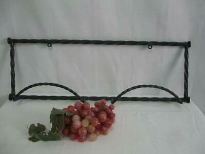 Vintage Twisted Wrought Iron Plate or Picture Hanger for 2 Large Size Plates, Wa