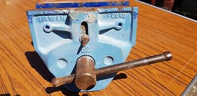 """Irwin Record 52 8"""" Jaw Width Work Bench Clamp VICE WITH DOG Carpenters Woodwork"""