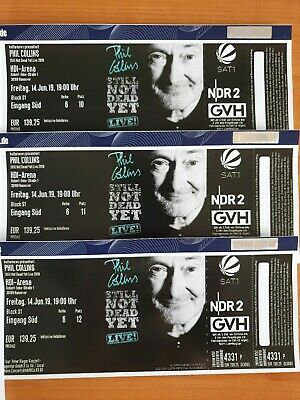 Phil Collins, 3 Tickets, Hannover, 14.06.2019