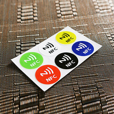 7BCA 87A2 6Pcs NFC Tags Smartphone Adhesive Chip RFID Label Tag Stickers Sticker