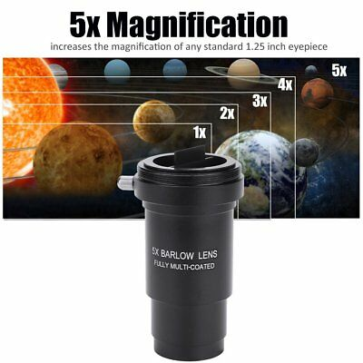 Telescope Eyepiece 5X 1.25'' Barlow Lens for Celestron Fully Multi-coated
