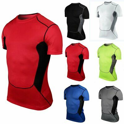 Men Quick Dry Workout Fitness T-Shirt Muscle Gym Running Bodybuilding Tank Tops