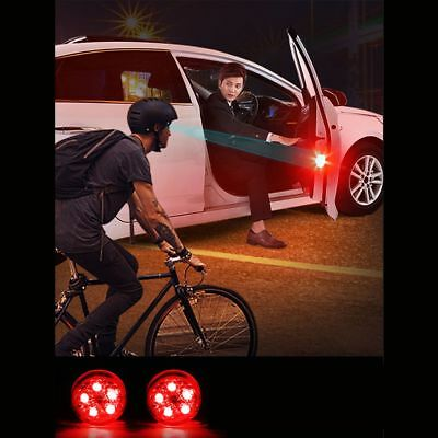 2pcs Car Door Warning Light Decor LED with wireless Anti Rear End Collision Tool