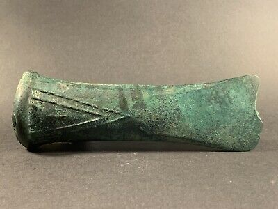 Intact - Massive Ancient Greek Bronze Age Socketed Axe Ax Circa 2500-1500 Bc