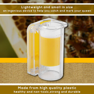 One Handed Queen Bee Catcher Clip Beekeeper Tool Apiary Equipment Cage cup 5.5cm