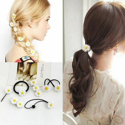 Headwear Accessories Elastic Rope Bobby Pins Barrettes Mini Daisy Hair Clip
