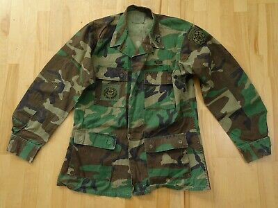USGI USMC Woodland Camo BDU Coat Jacket Hot Weather SIZE Medium Long