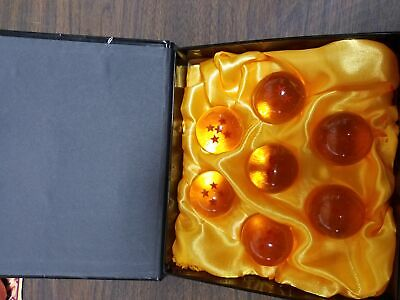 Dragon Ball Z CXU Collectible Large Crystal Acrylic Glass 7 Stars Balls, 7 Pcs