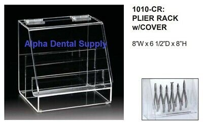 "Plasdent Dental Orthodontic Pliers Rack with Cover 8""W x 6.5""D x 8""H #1010-CR"