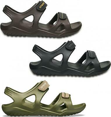 Crocs 203965 SWIFTWATER RIVER SANDAL Mens Touch Fasten Open Toe Summer Sandals