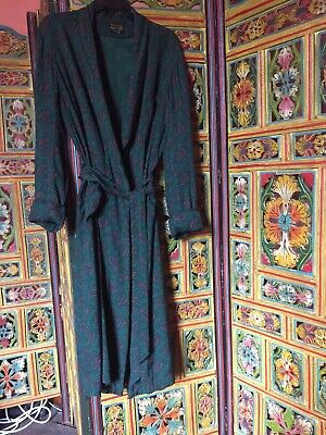 Mens Vintage Tootal Paisley Dressing Gown Size 38