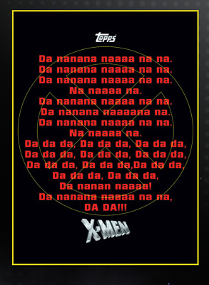 Topps Marvel Collect Card Trader X-Men Theme Song Card     Digital Insert